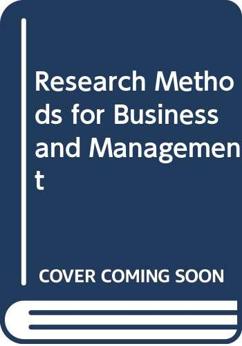 9780029463772: Research Methods for Business and Management