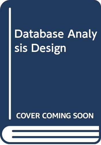 9780029464380: Database Analysis Design