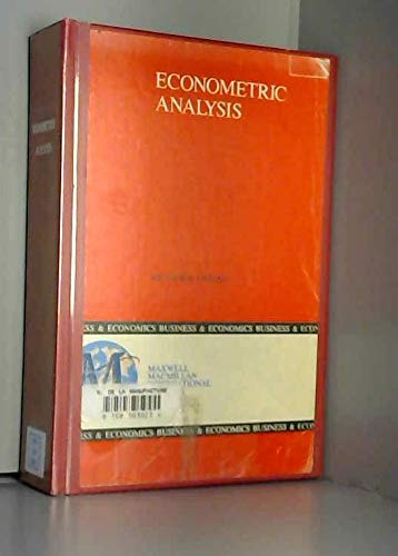 9780029464571: Econometric Analysis