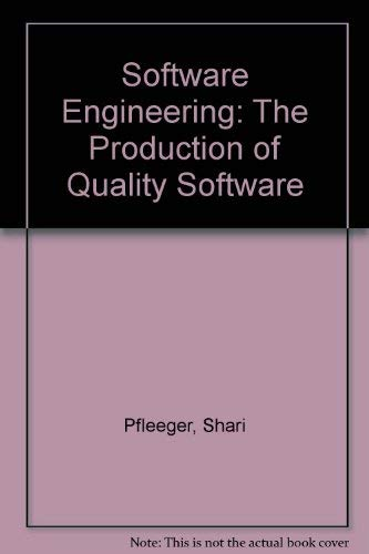 9780029464885: Software Engineering: The Production of Quality Software