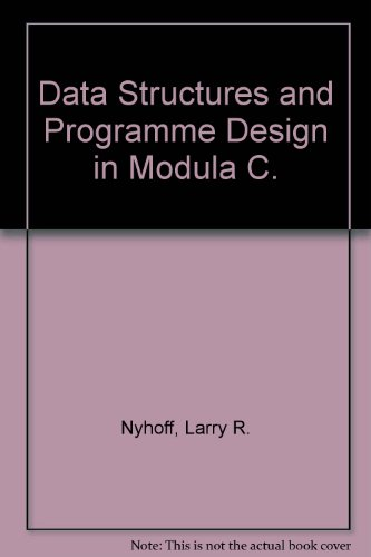 9780029464977: Data Structures and Programme Design in Modula C.