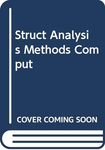 9780029465592: Struct Analysis Methods Comput