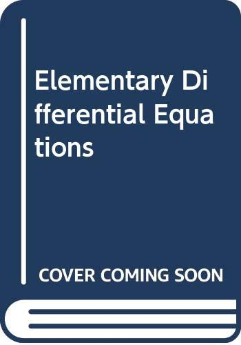 9780029465806: Elementary Differential Equations