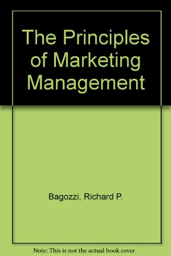 9780029465813: The Principles of Marketing Management