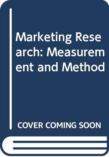 9780029468005: Marketing Research: Measurement and Method