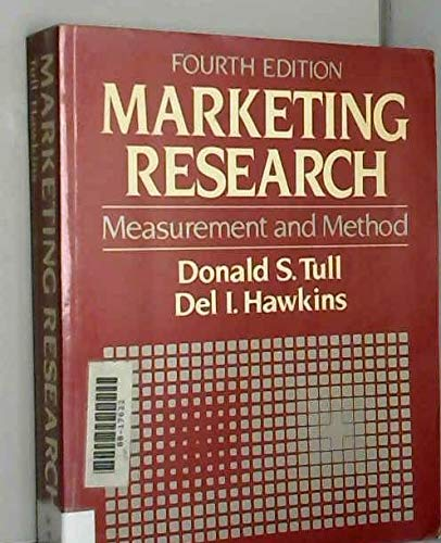 9780029468104: Marketing Research: Measurement and Method
