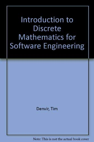 9780029489215: Introduction to Discrete Mathematics for Software Engineering