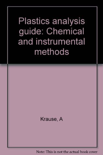 9780029494103: Plastics Analysis Guide