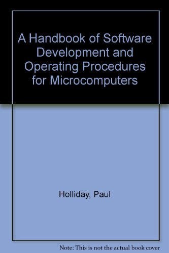 9780029495100: A Handbook of Software Development and Operating Procedures for Microcomputers