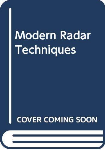 9780029496015: Modern Radar Techniques