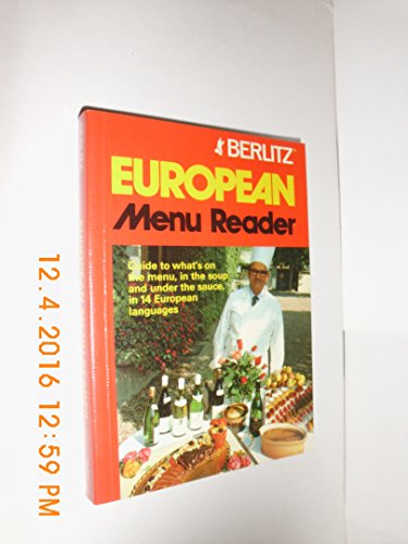 9780029642009: Berlitz European Menu Reader