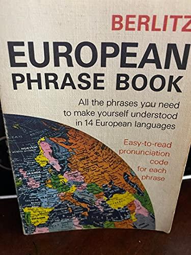 9780029642900: Berlitz European Phrasebook