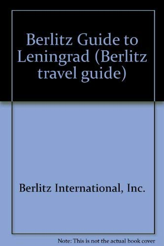 9780029693001: Berlitz Guide to Leningrad (Berlitz travel guide)