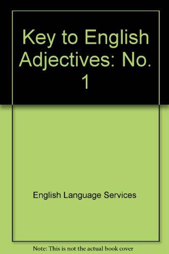 9780029717707: Key to English Adjectives: No. 1 (Collier MacMillan English Program: The Key to English)