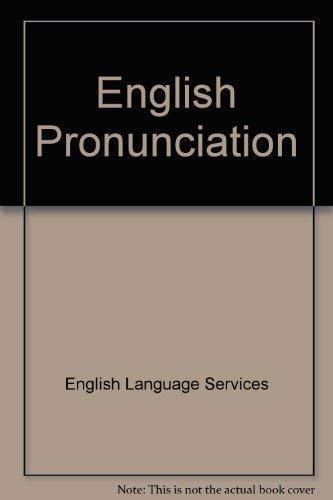 9780029718803: English Pronunciation: A Manual for Teachers