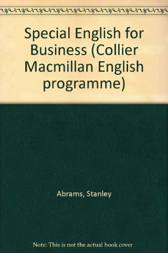 9780029718902: Special English for Business (Collier Macmillan English program)