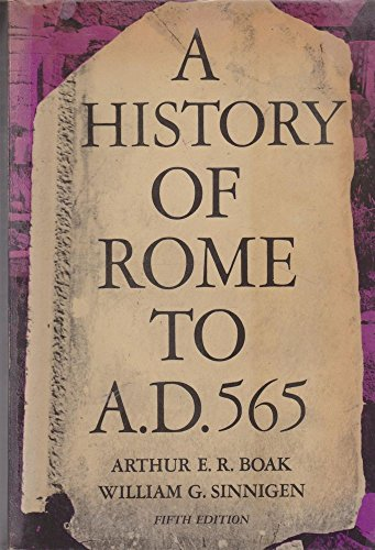 9780029723005: History of Rome to 565 A.D.