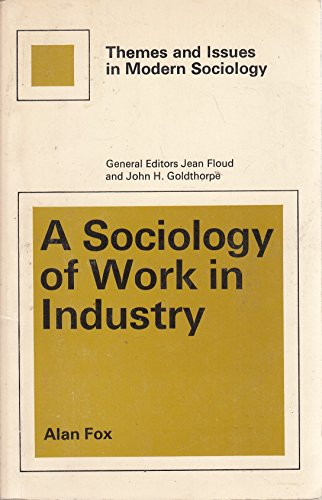 9780029736104: Sociology of Work in Industry (Themes & Issues in Modern Society)