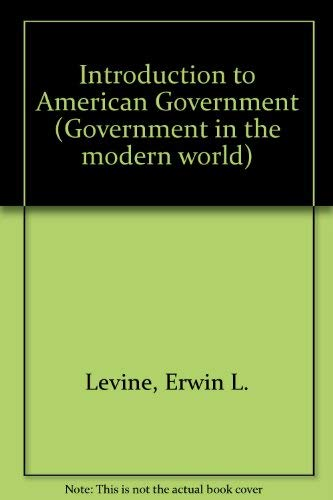 9780029768709: Introduction to American Government