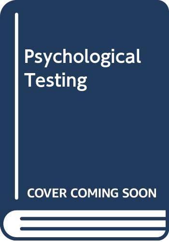 9780029775103: Psychological Testing