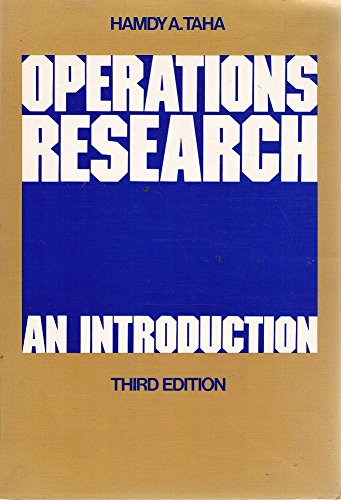 9780029776100: Operations Research: An Introduction