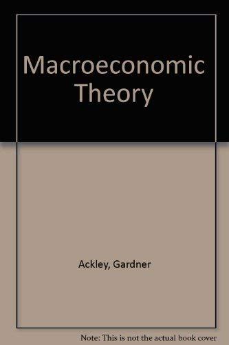 9780029784006: Macroeconomic Theory