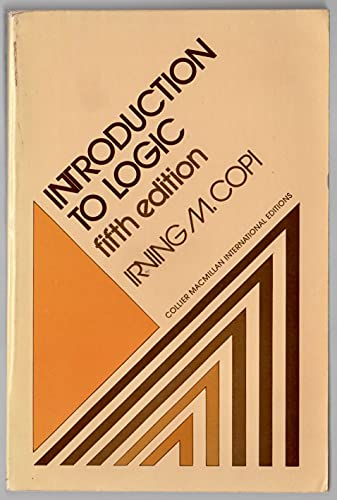 9780029787205: Introduction to Logic