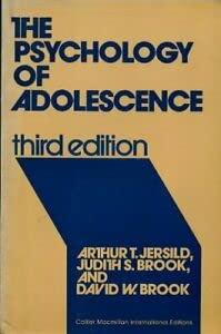 9780029792308: Psychology of Adolescence