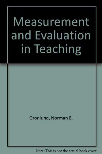 9780029794005: Measurement and Evaluation in Teaching