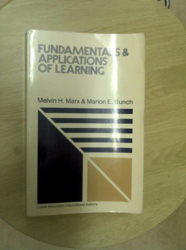9780029794609: Fundamentals and Applications of Learning