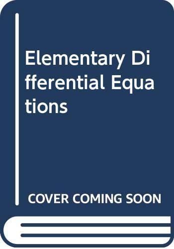 9780029794807: Rainville: Elementary Differl Equa 6e SE