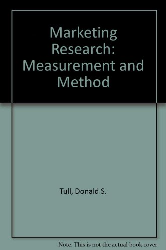 9780029796405: Marketing Research: Measurement and Method