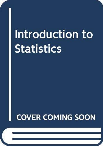 9780029798904: Introduction to Statistics