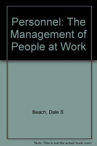 9780029799406: Personnel: The Management of People at Work