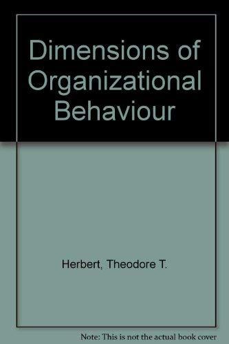 9780029799604: Dimensions of Organizational Behaviour