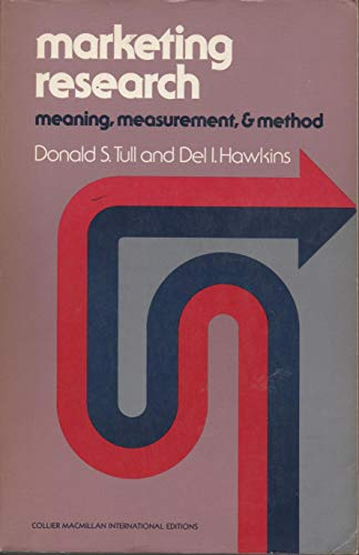 9780029799901: Marketing Research: Measurement and Method