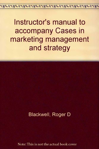 9780030000492: Instructor's manual to accompany Cases in marketing management and strategy