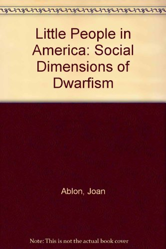 9780030001192: Little People in America: Social Dimensions of Dwarfism
