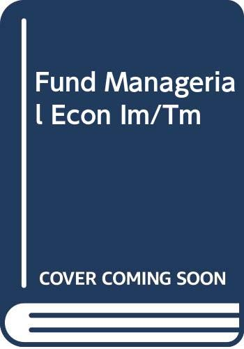 9780030002045: Fundamental Managerial Economics