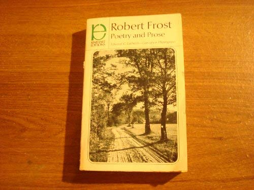 9780030002069: Robert Frost: Poetry and Prose (Rinehart editions, 154)