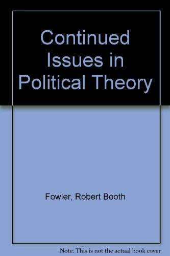 9780030008382: Contemporary Issues in Political Theory