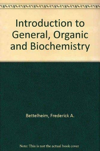 9780030010682: Introduction to General, Organic Biochemistry (Saunders golden sunburst series)