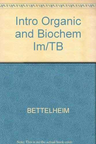 9780030010699: Intro Organic and Biochem Im/TB