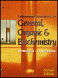 9780030010736: Laboratory Experiments for General, Organic and Biochemistry