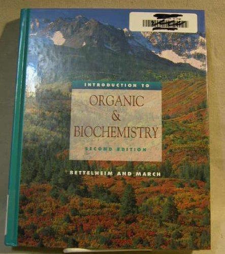 9780030012624: Introduction to Organic & Biochemistry (Saunders Golden Sunburst Series)
