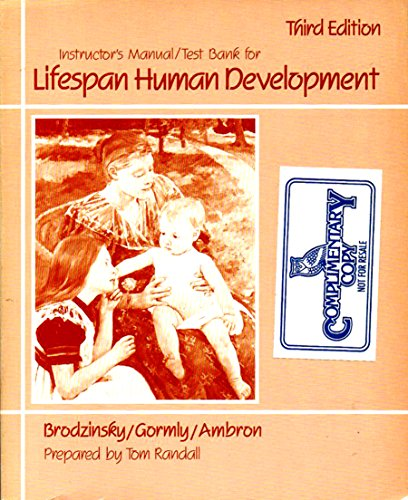 9780030013034: Instructor's manual/test bank for Lifespan human development