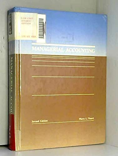 Managerial Accounting: Pierre L. Titard