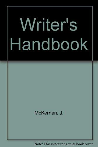 9780030015823: Writer's Handbook