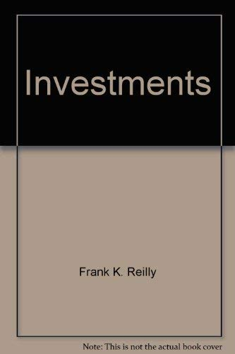 Investments: Reilly, Frank K.