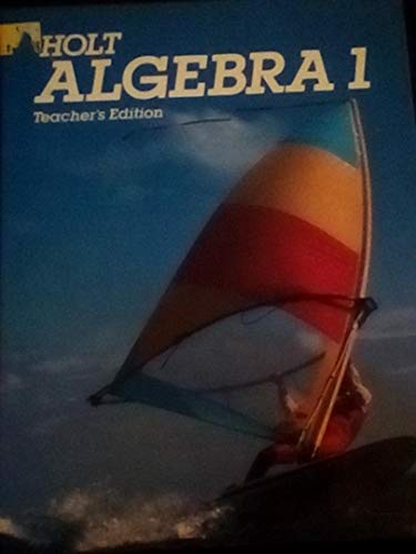 9780030021633: Holt Algebra 1, Teacher's Edition